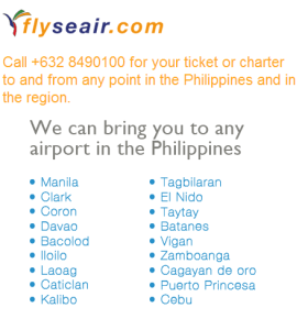 Internal airlines in the Philippines