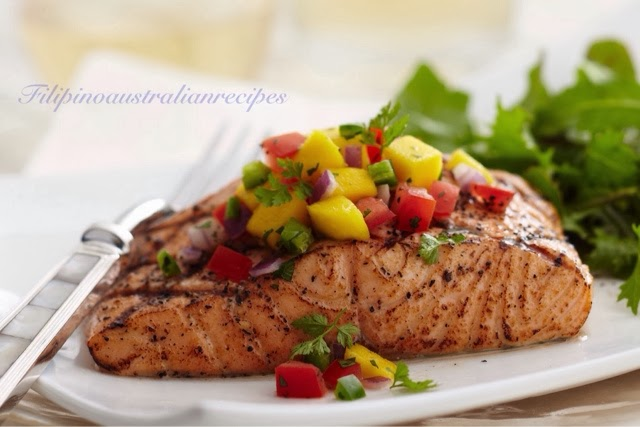 Salmon Fillet Steak Philippine Style