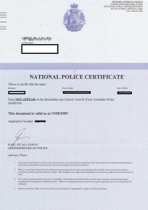 National Police Certificate in Australia