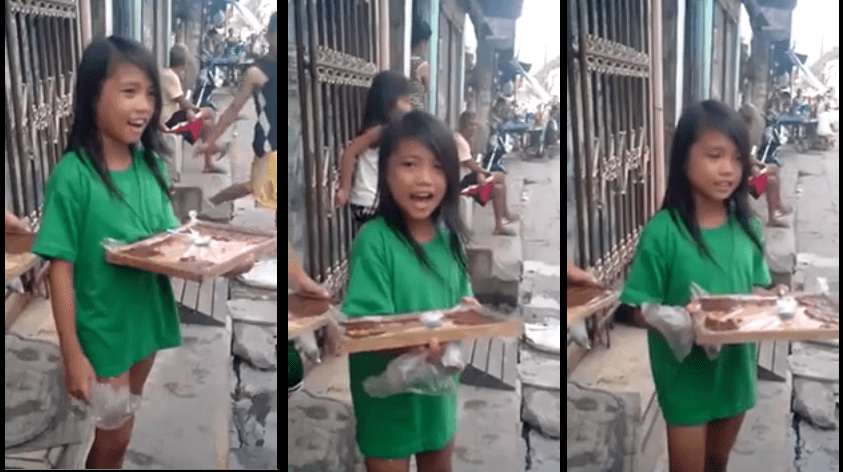 Filipina kid selling bibingka with great voice